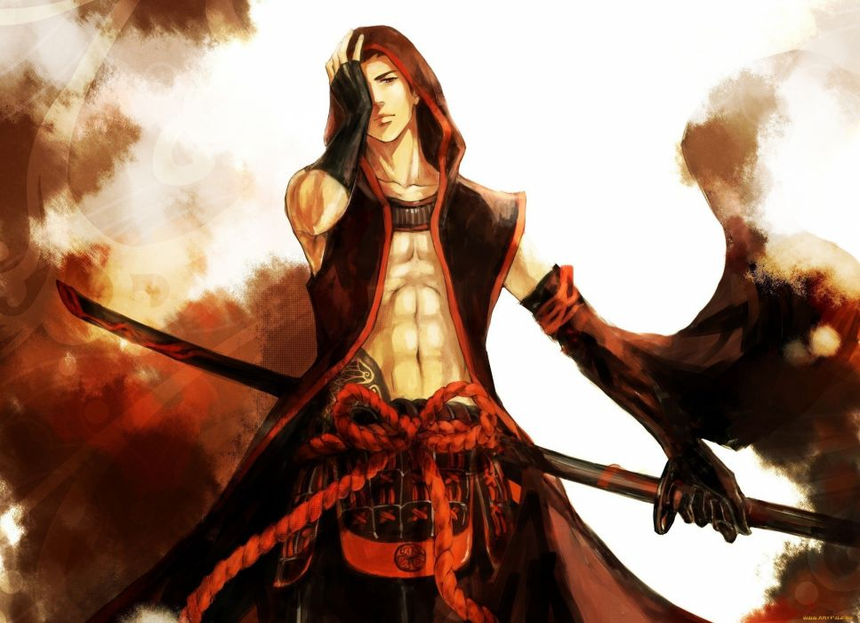 Anime character male sword warrior red wallpaper - Anime character wallpaper ...