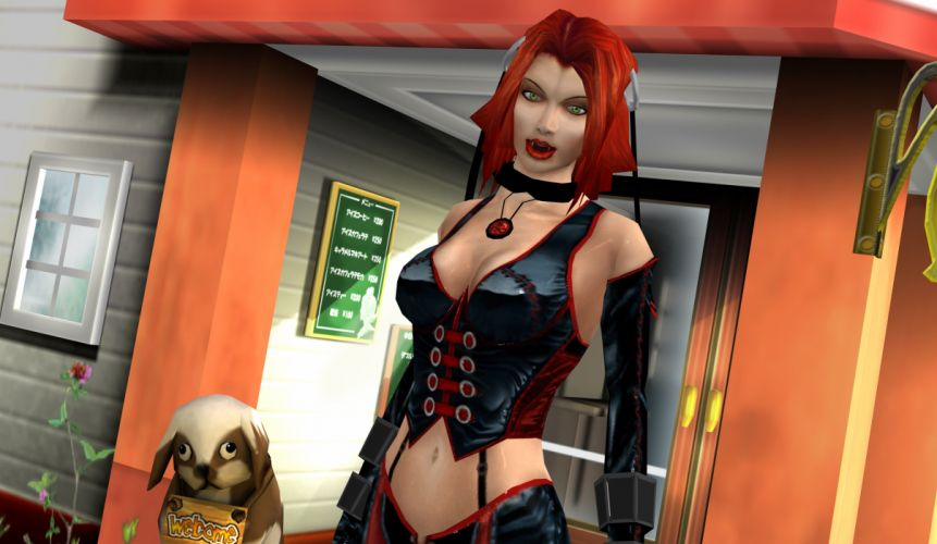 BLOODRAYNE action adventure fantasy dark horror vampire blood thriller superhero wallpaper