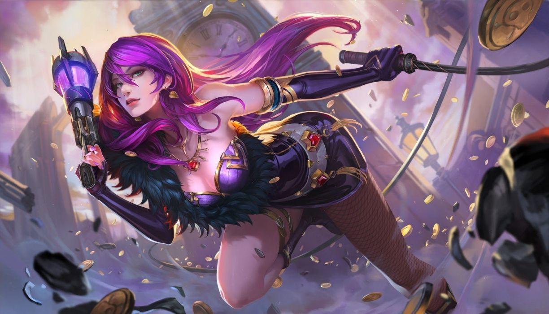 art fantasy woman warrior pink hair beauty wallpaper