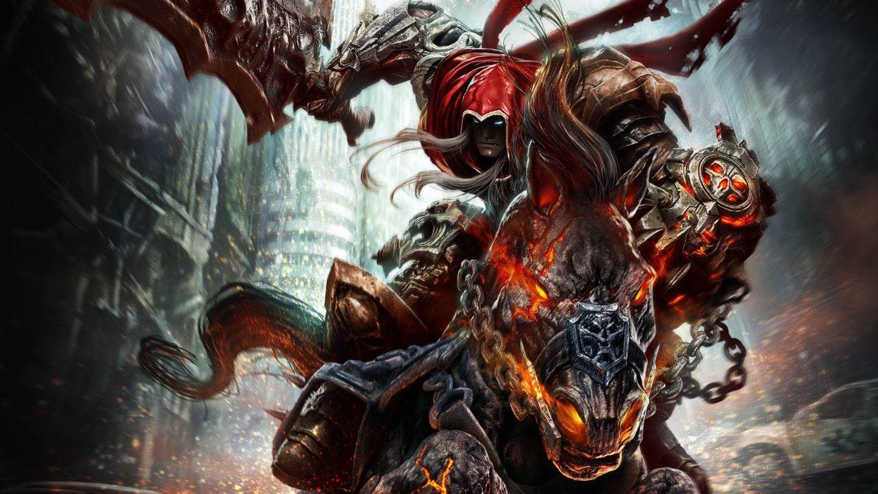 demon sword Dark siders Wrath of War rider horse wallpaper