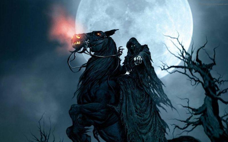 Grim Reaper On Horse wallpaper