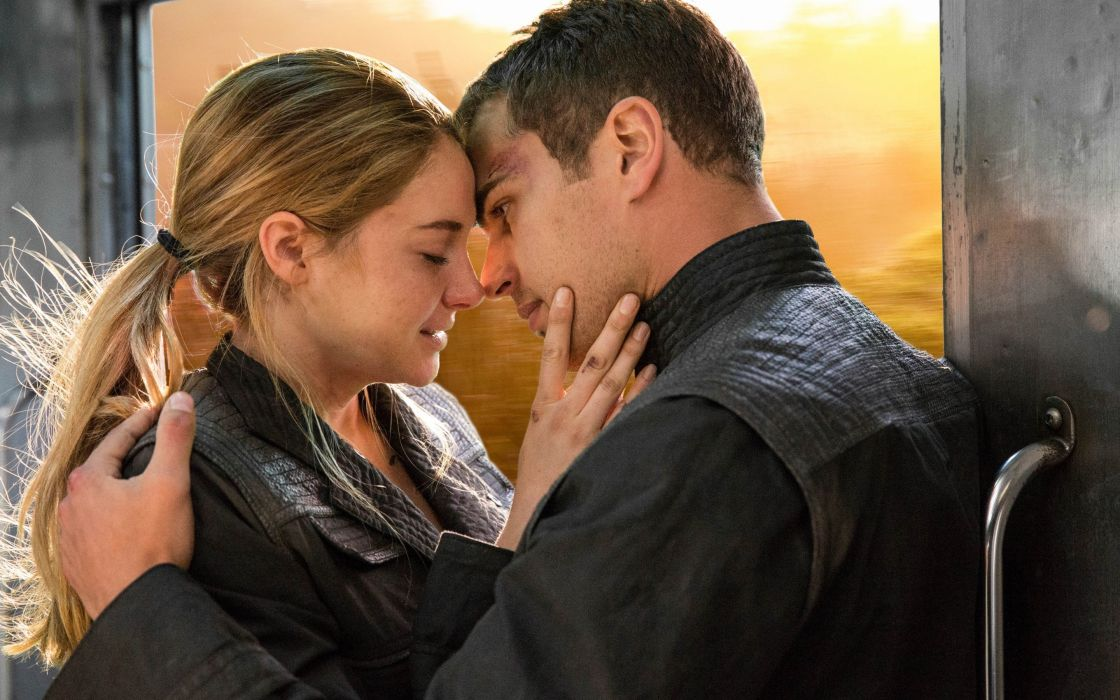 divergent movie couple love blonde girl male female wallpaper