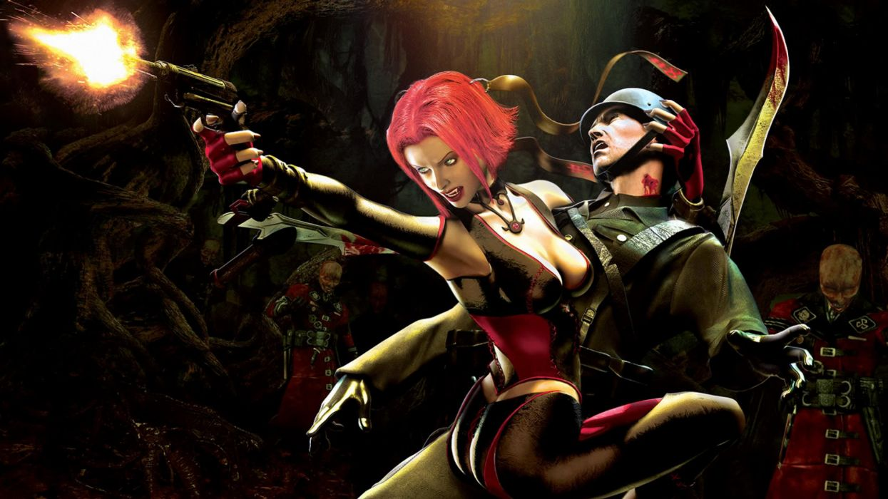 BLOODRAYNE action adventure fantasy dark horror vampire blood thriller wallpaper