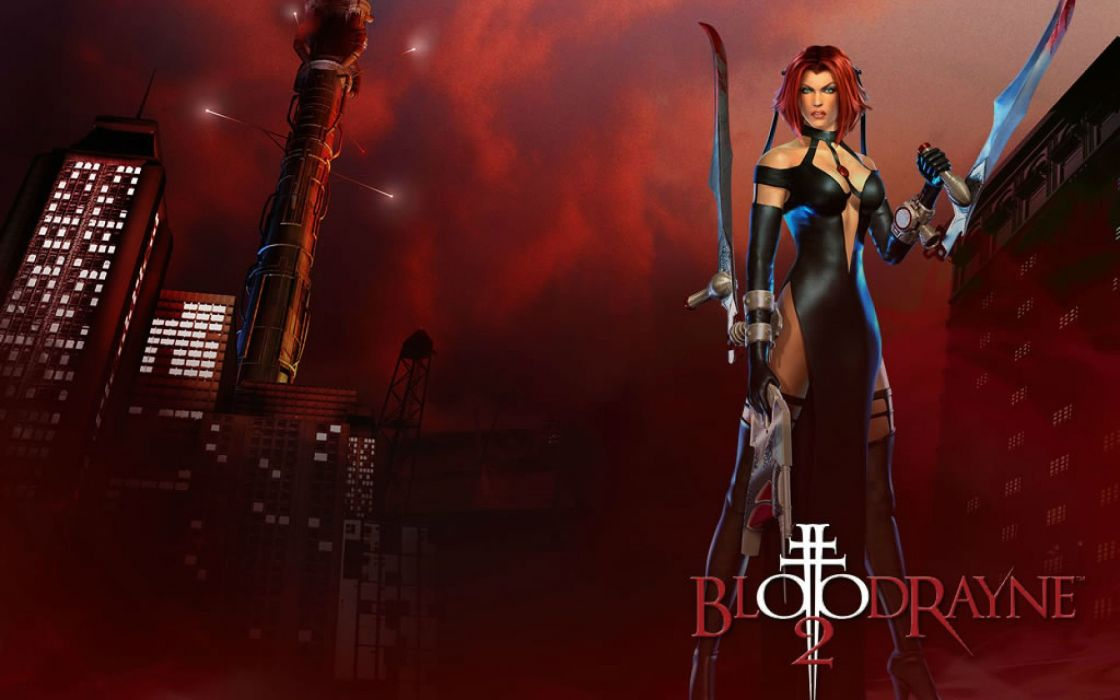 BLOODRAYNE action adventure fantasy dark horror vampire blood thriller poster wallpaper