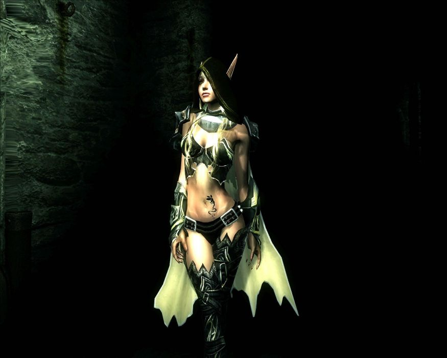 ELDER SCROLLS fantasy action rpg skyrim fighting warrior artwork dragon sexy babe wallpaper