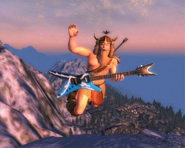 ELDER SCROLLS fantasy action rpg skyrim fighting warrior artwork dragon poster guitar heavy metal wallpaper