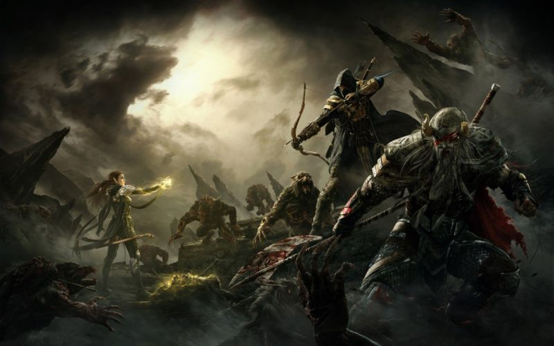 ELDER SCROLLS fantasy action rpg skyrim fighting warrior artwork dragon wallpaper