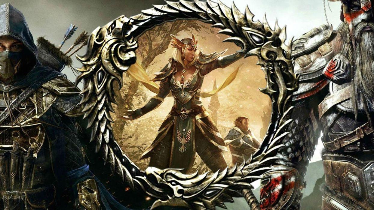 ELDER SCROLLS fantasy action rpg skyrim fighting warrior artwork dragon perfect sexy babe wallpaper