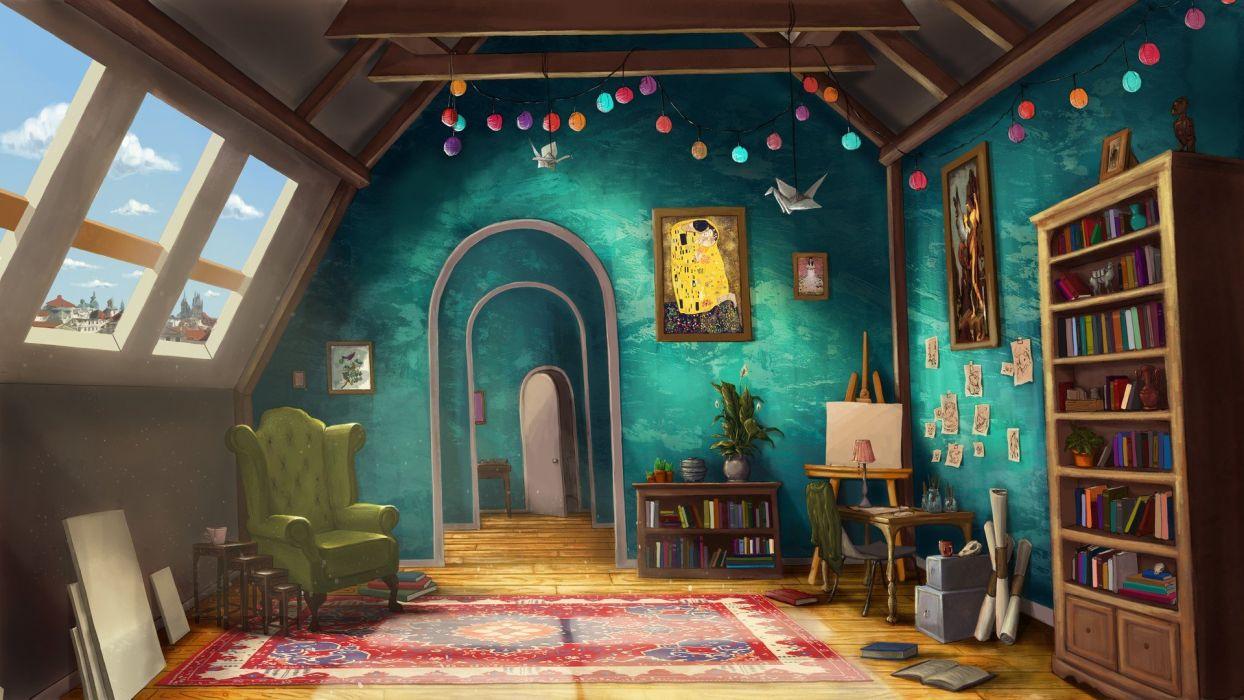 interior habitacio diseA wallpaper