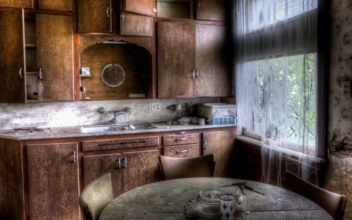 vieja cocina interior hogar wallpaper