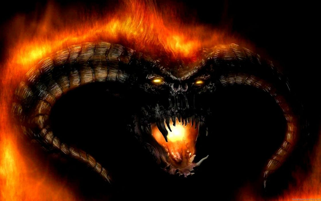 Balrog Lord Of The Rings dark fire wallpaper