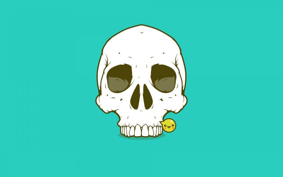 skull smile texture wallpaper