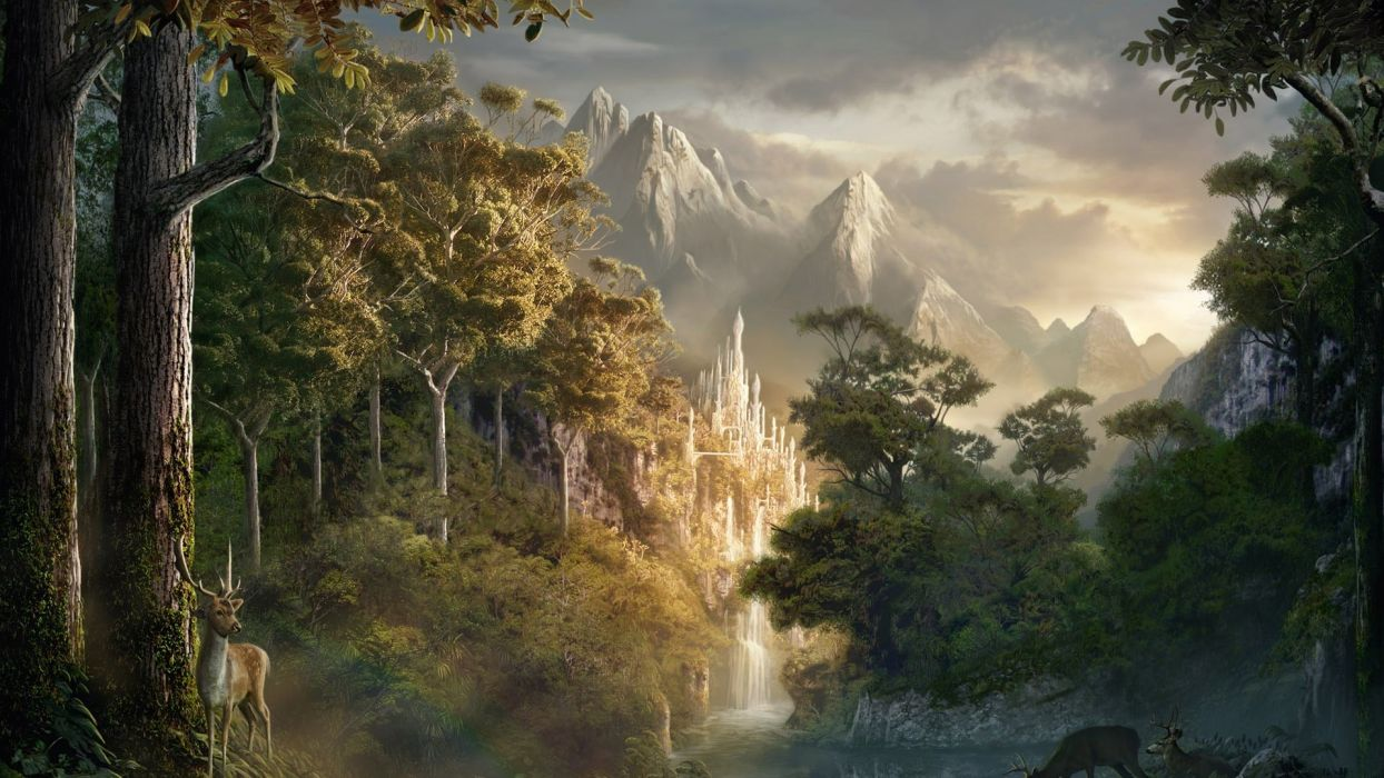 Lord Of The Rings beauty landscape wallpaper