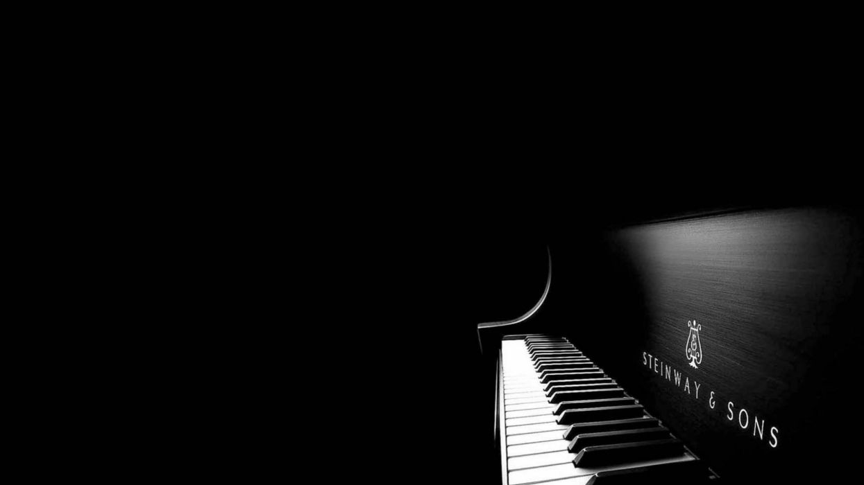 Piano music beauty black background wallpaper