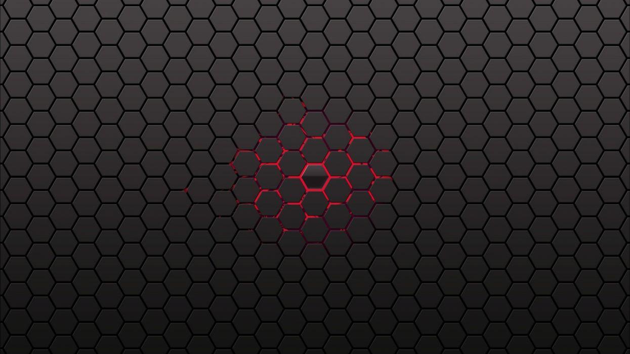 Black Honeycomb Wallpaper Center Lines Backgrounds Red wallpaper