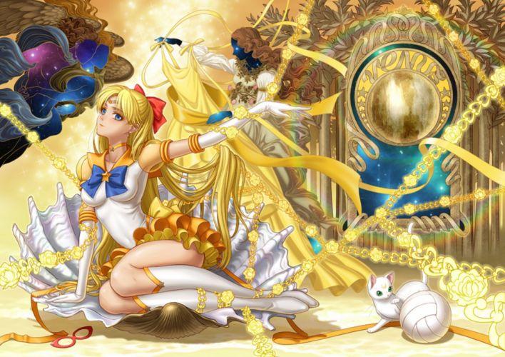 anime series sailor moon character blonde long hair venus wallpaper