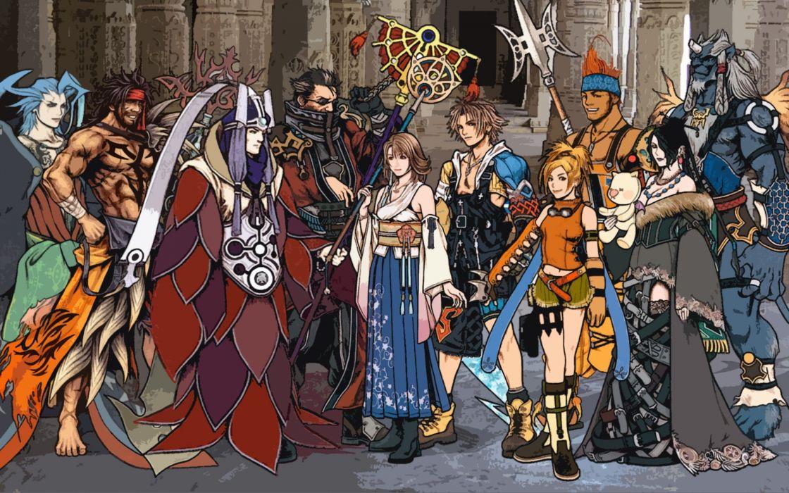 Final Fantasy X Art characters group wallpaper