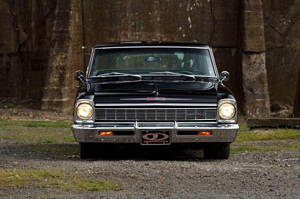 1966 Chevrolet Nova cars black modified wallpaper
