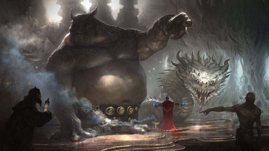 trolls arte fantasia magos wallpaper