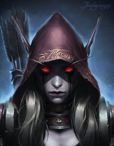 arte fantasia elfo ojos rojos guerrerra wallpaper