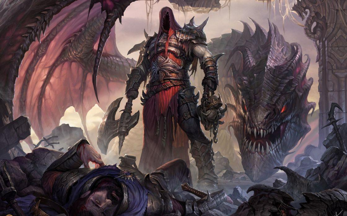 qrte fantadia guerrero dragon lucha wallpaper