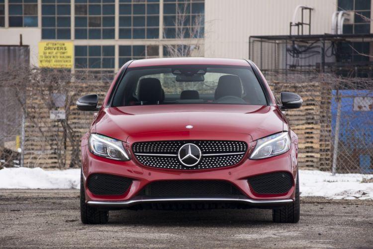2016 Mercedes Benz C450 AMG cars sedan red wallpaper