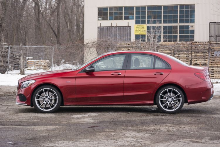 2016 Mercedes Benz C450 AMG cars sedan red wallpaper