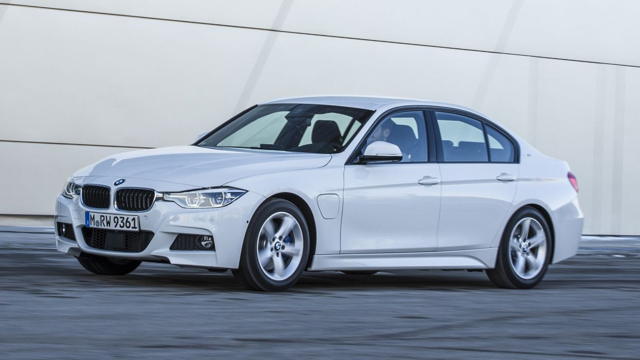 2016 BMW 330e cars sedan white electric wallpaper