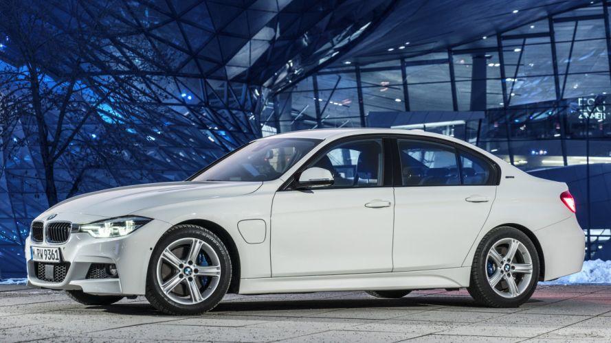 2016 BMW 330e cars sedan white electric wallpaper