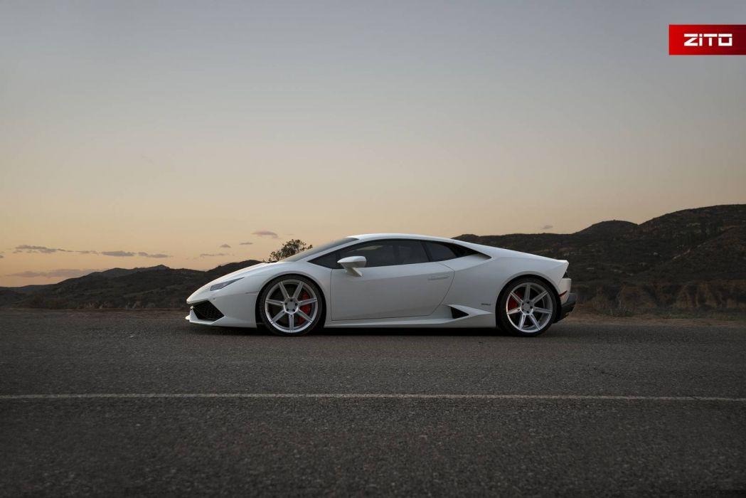 Lamborghini Huracan cars coupe white 2016 wallpaper