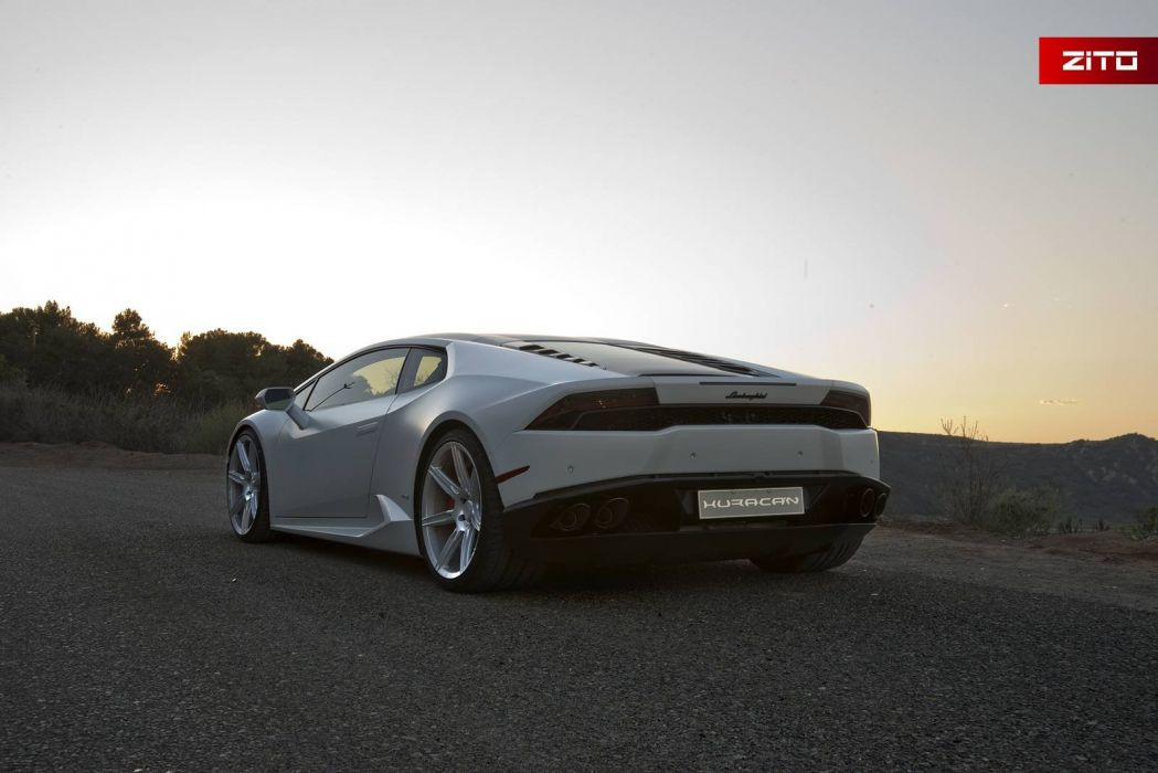 Lamborghini Huracan cars coupe white 2016 wallpaper