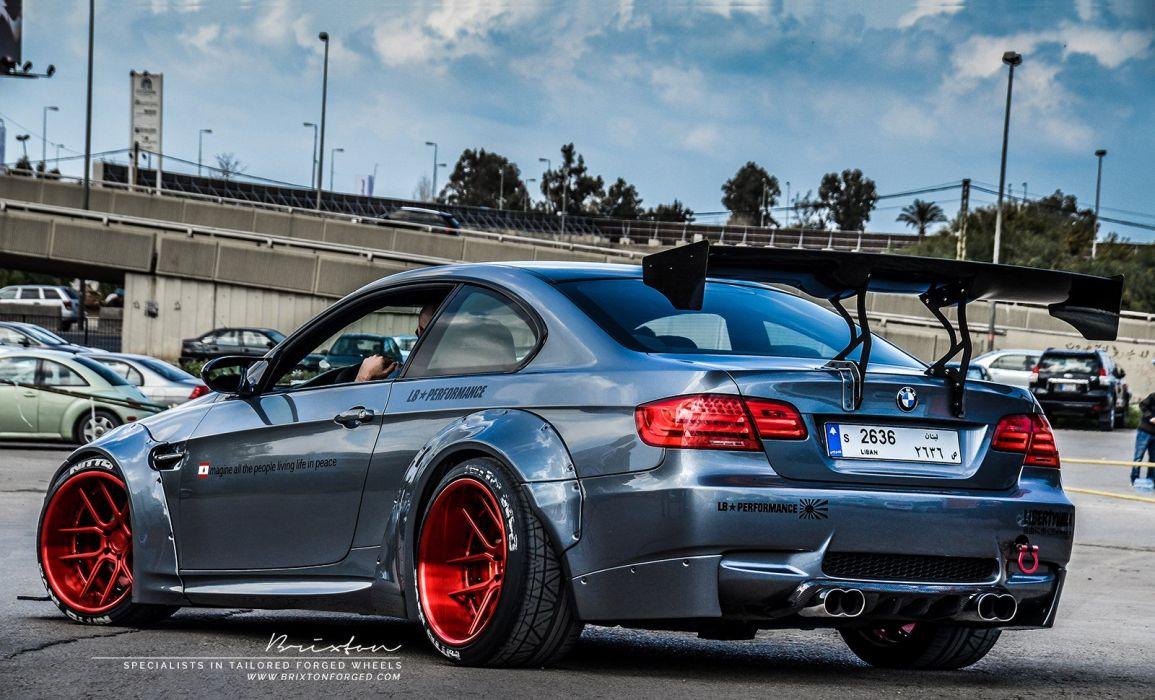 Brixton Forged Liberty Walk BMW E92 M3 cars modified wheels wallpaper
