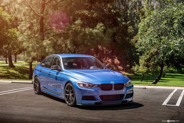 bmw f30 328i blue cars wheels wallpaper