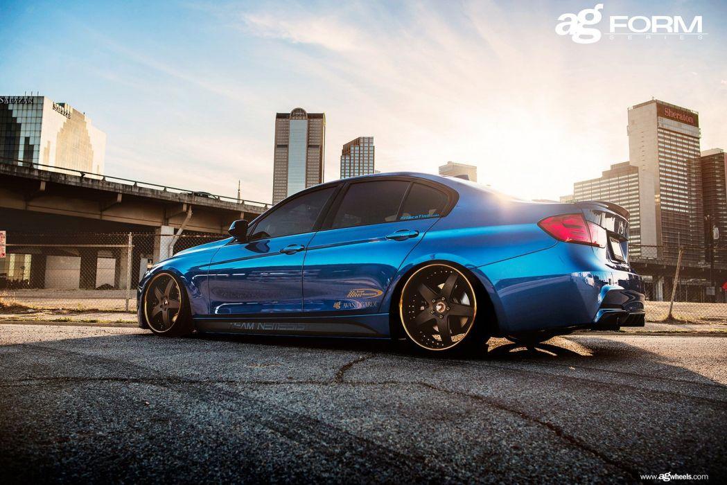 bmw f30 328i blue cars wheels wallpaper