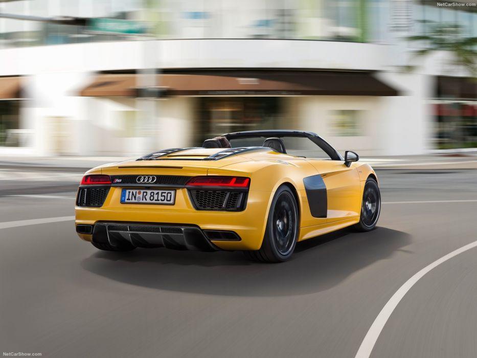 Audi R8 Spyder V10 Cars Yellow 2017 Wallpaper 1600x1200 916396