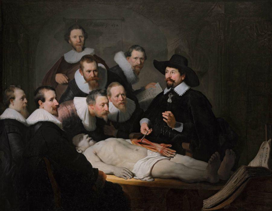 arte pintura barroco doctores paciente wallpaper