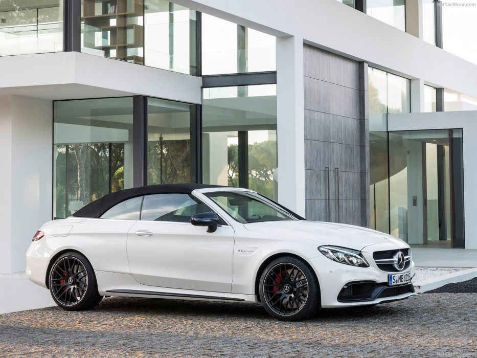 Mercedes Benz C63 AMG Cabriolet cars 2016 wallpaper