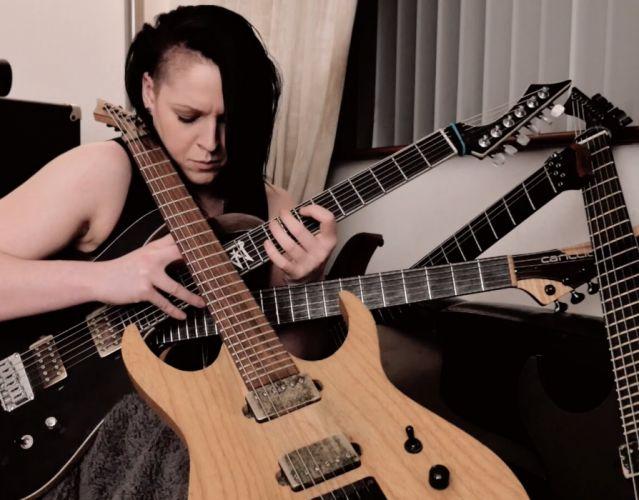FEMALE GUITAR heavy fetish women woman girls hard rock sexy babe girl girls wallpaper