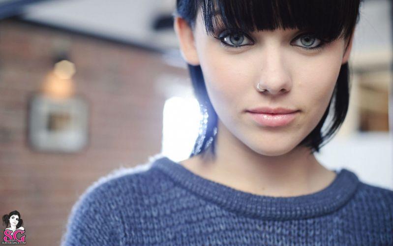 MELISSA CLARKE model brunette sexy babe adult girl girls suicide wallpaper