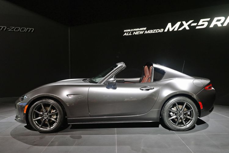 New York auto shows 2016 cars Mazda MX-5 RF wallpaper