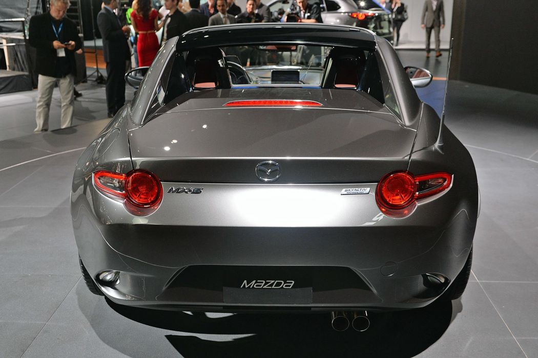 New York auto shows 2016 cars Mazda MX-5 RF wallpaper