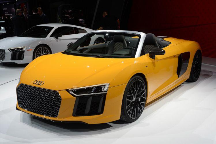 New York auto shows 2016 cars Audi R8 Spyder wallpaper