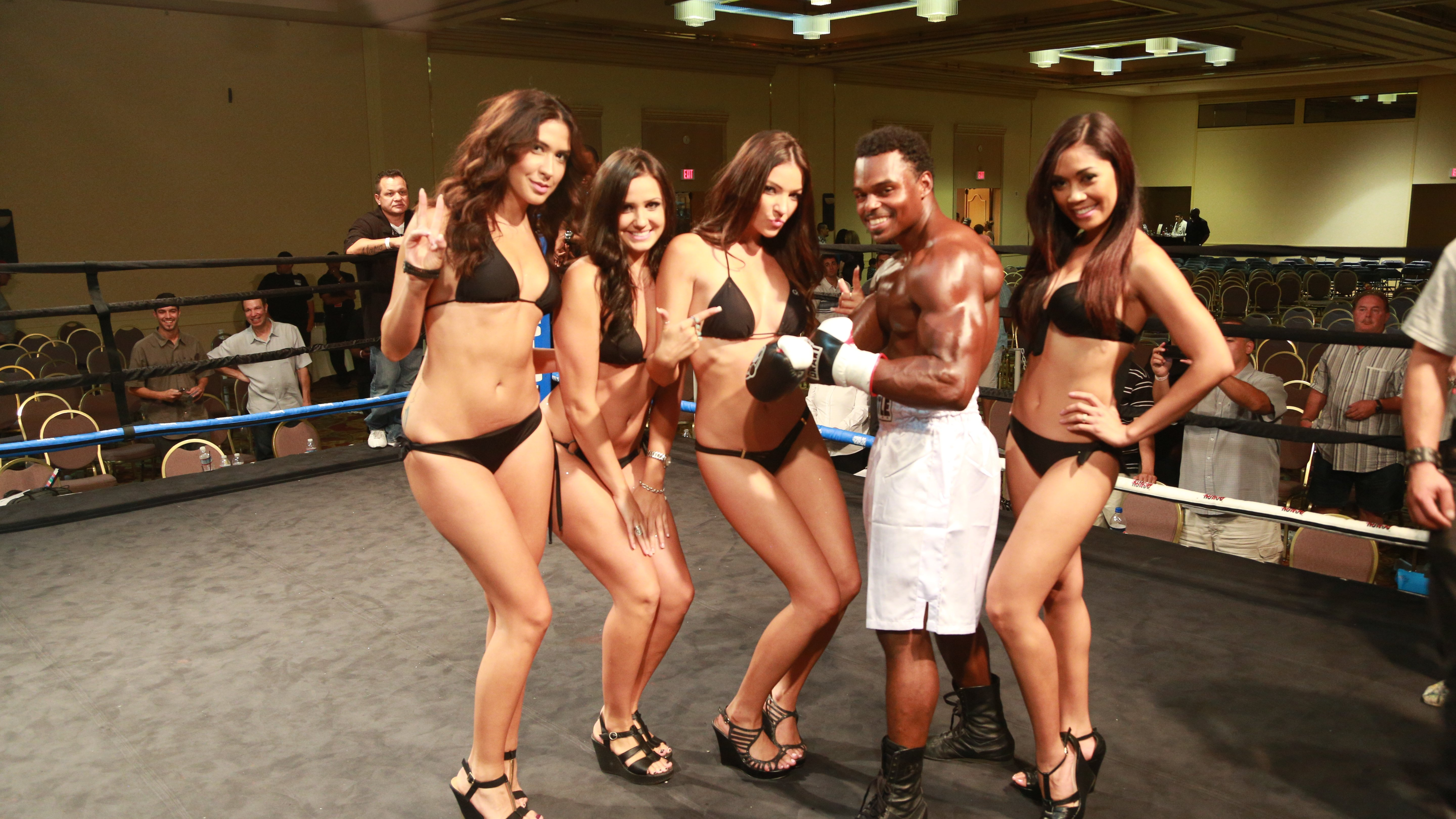 Sexy ring girls tuesday night fights wallpaper can