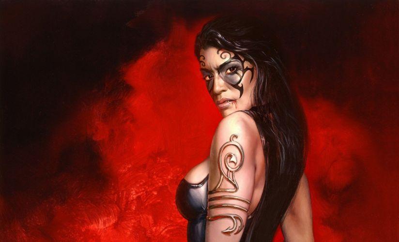 video juego mujer lucha tatuada wallpaper