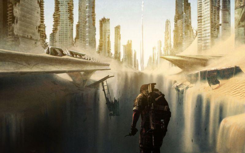 video juego futurista accion aventuras wallpaper