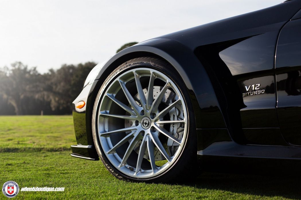 SL65 mercedes Black Series HRE wheels cars black wallpaper