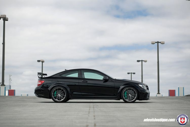mercedes C63 AMG Black Series HRE wheels cars black wallpaper