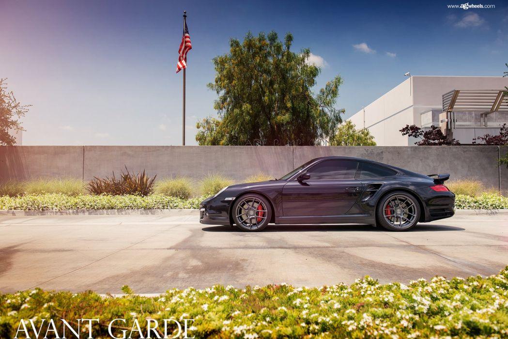 porsche 997 turbo avant garde wheels cars wallpaper