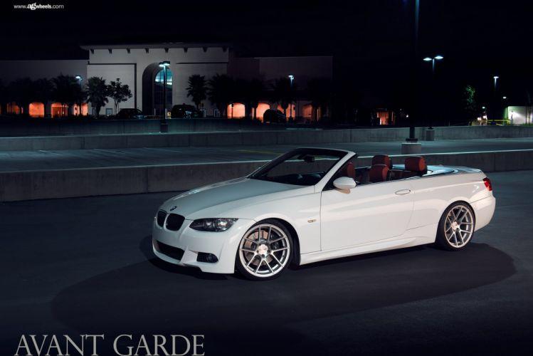 BMW e93 convertible avant garde wheels cars wallpaper
