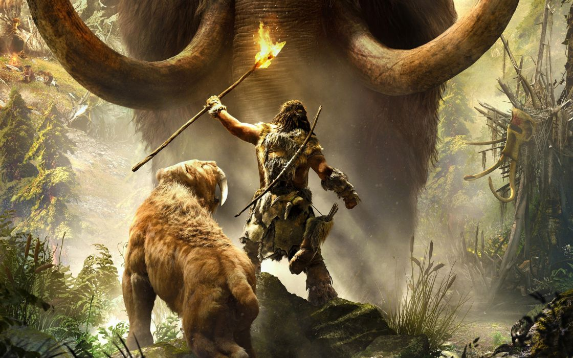 video juegos prehistoria mamut diente sable hombre wallpaper